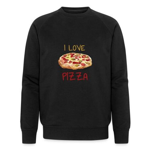 I love Pizza - Männer Bio-Sweatshirt von Stanley & Stella