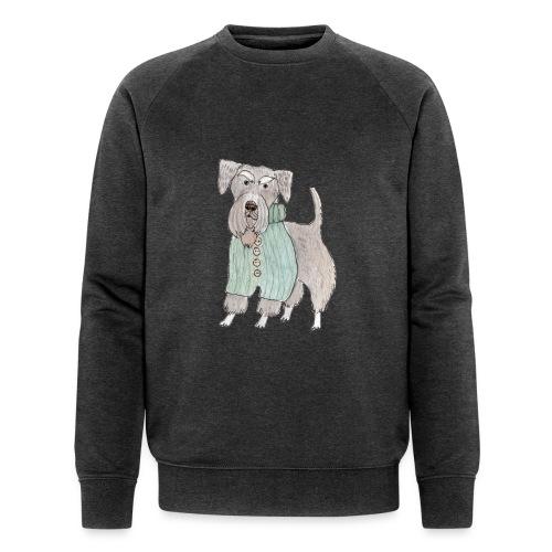 schnauzer with sweater - Økologisk Stanley & Stella sweatshirt til herrer