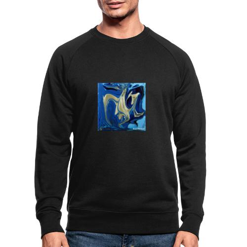 TIAN GREEN Welt Mosaik - AT042 Blue Passion - Männer Bio-Sweatshirt