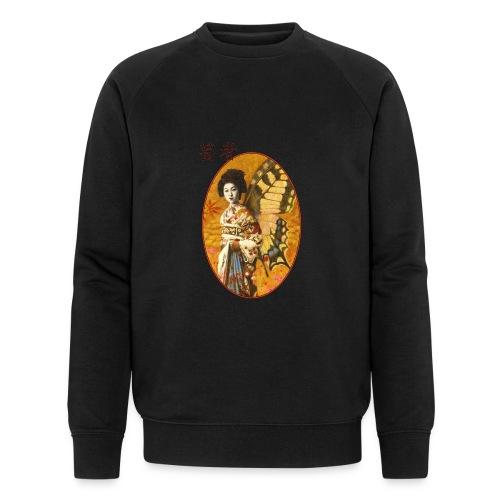 Vintage Japanese Geisha Oriental Design - Men's Organic Sweatshirt by Stanley & Stella