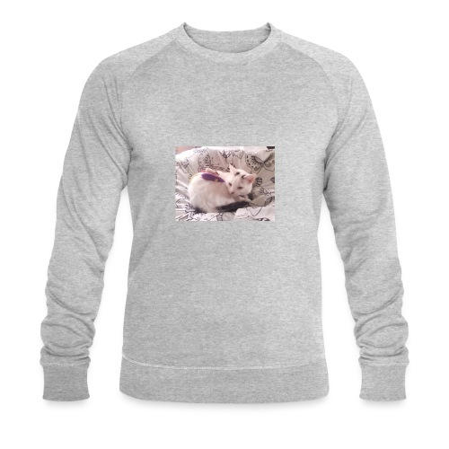 CAT SURROUNDED BY MICE AND BUTTERFLIES. - Men's Organic Sweatshirt