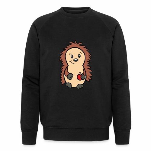 Igel mit Apfel in der Hand - Männer Bio-Sweatshirt von Stanley & Stella