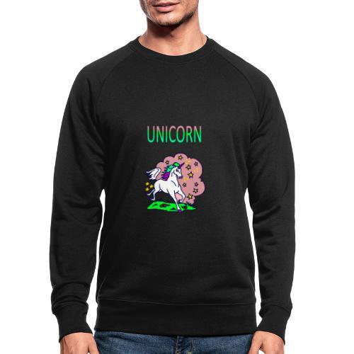 Einhorn unicorn - Männer Bio-Sweatshirt