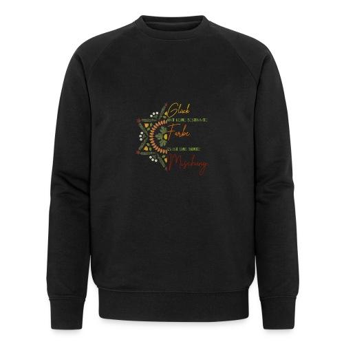 glück hat keine bestimmte farbe mandala spruch - Männer Bio-Sweatshirt