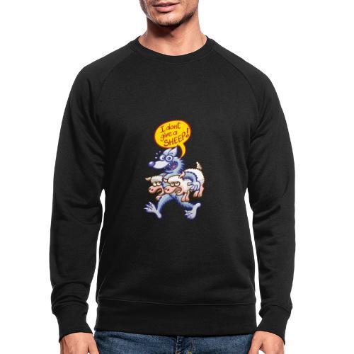 Bad blue wolf says I don't give a sheep - Men's Organic Sweatshirt