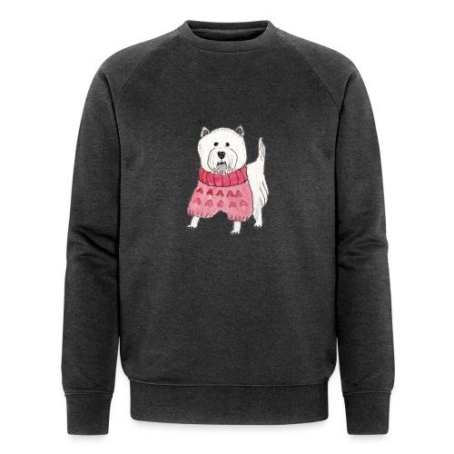 westie with sweater - Økologisk Stanley & Stella sweatshirt til herrer