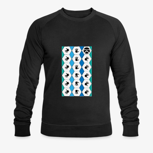  K·CLOTHES  HEXAGON ESSENCE BLUES & WHITE - Sudadera ecológica hombre de Stanley & Stella
