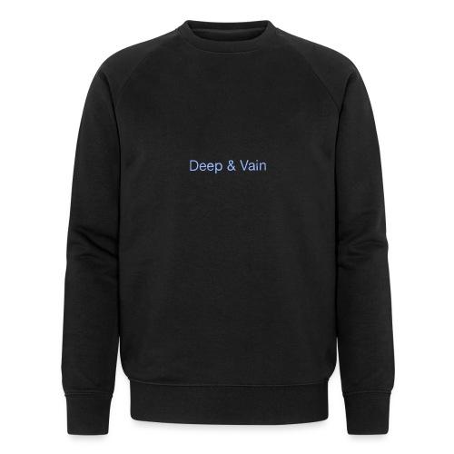 Deep&Vain Text Logo - Mannen bio sweatshirt