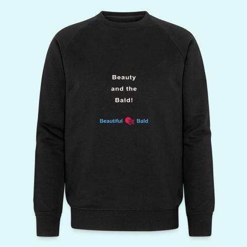 Beauty and the bald-w - Mannen bio sweatshirt