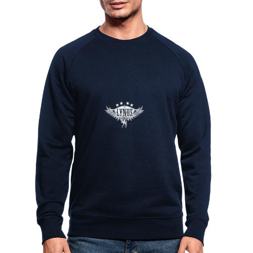 Small Lynus logo White - Men's Organic Sweatshirt