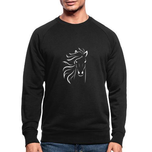 pferd silhouette - Männer Bio-Sweatshirt