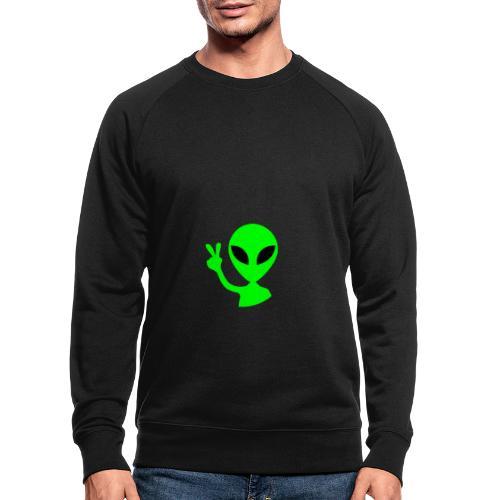 Peace out Alien - Men's Organic Sweatshirt