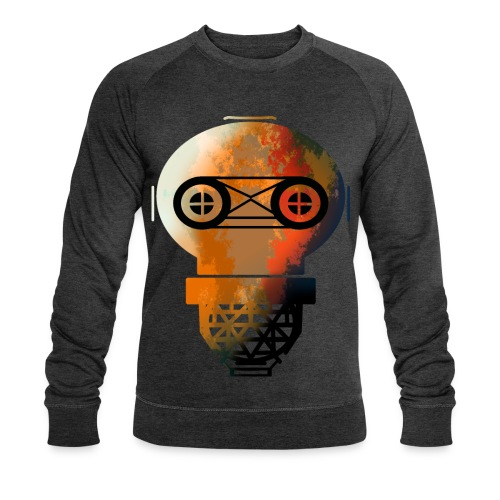 Old helmet with rust for diver or gas mask - Men's Organic Sweatshirt by Stanley & Stella