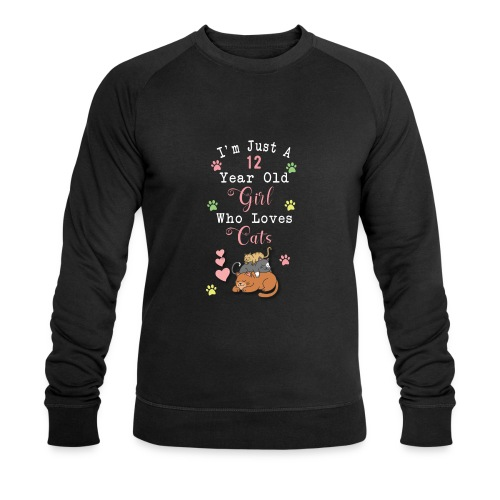I'm just a 12 year old girl who loves cats - Sweat-shirt bio Stanley & Stella Homme