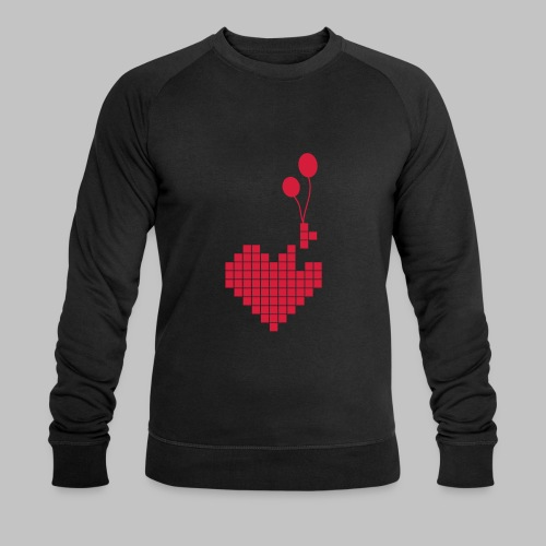 heart and balloons - Men's Organic Sweatshirt by Stanley & Stella