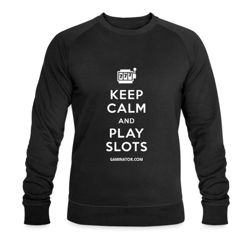Keep Calm and Play Slots - Men's Organic Sweatshirt by Stanley & Stella