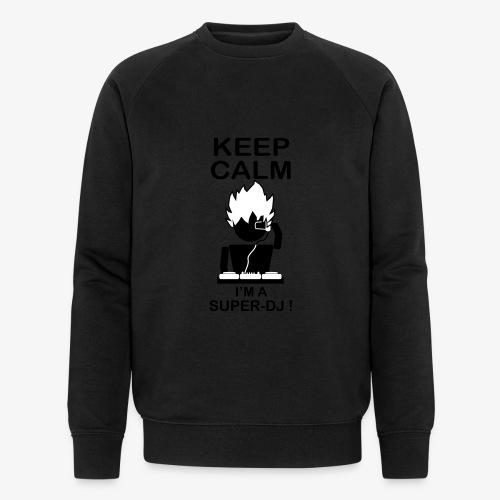 KEEP CALM SUPER DJ B&W - Sweat-shirt bio Stanley & Stella Homme