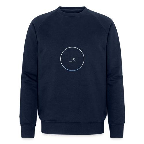 White and white-blue logo - Men's Organic Sweatshirt by Stanley & Stella