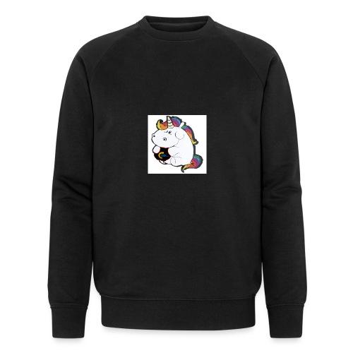 MIK Einhorn - Männer Bio-Sweatshirt