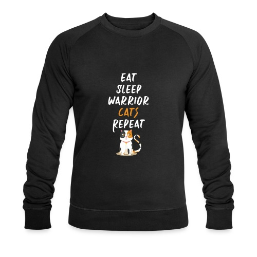 Eat sleep warrior cats repeat - Sweat-shirt bio Stanley & Stella Homme