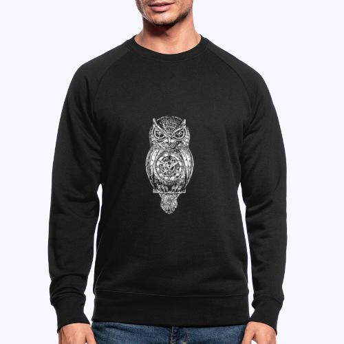 Eule - Männer Bio-Sweatshirt