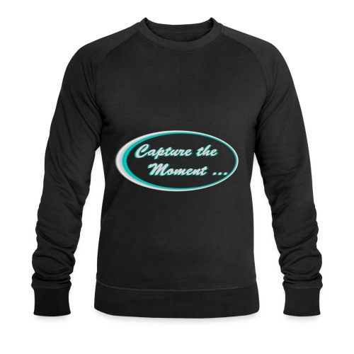 Logo capture the moment photography slogan - Men's Organic Sweatshirt by Stanley & Stella