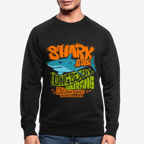 shark surf surfing california - Männer Bio-Sweatshirt