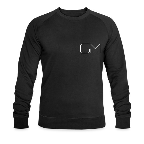 GM GregsMedia 2018 Logo V4 WT png - Men's Organic Sweatshirt