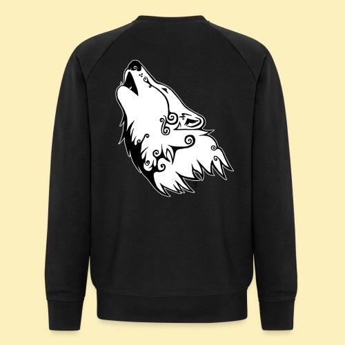 Le Loup de Neved (version contour blanc) - Sweat-shirt bio Stanley & Stella Homme