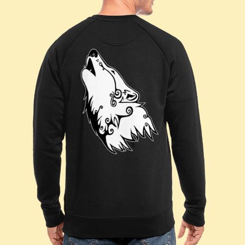 Le Loup de Neved (version contour blanc) - Sweat-shirt bio