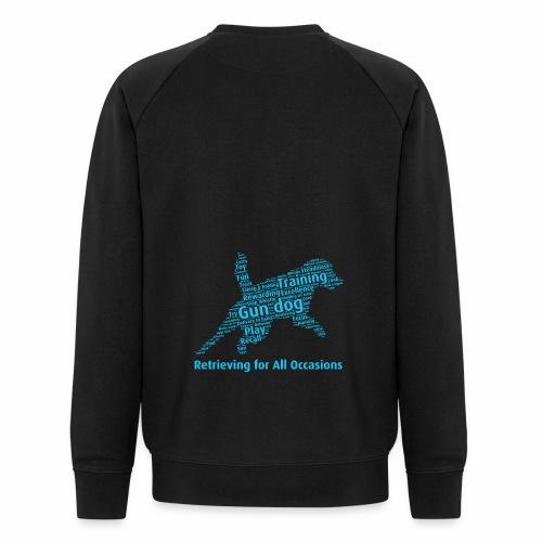 Retrieving for All Occasions wordcloud blått - Ekologisk sweatshirt herr från Stanley & Stella