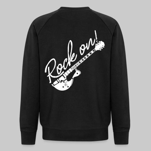 Rock On mit Gitarre - Männer Bio-Sweatshirt von Stanley & Stella