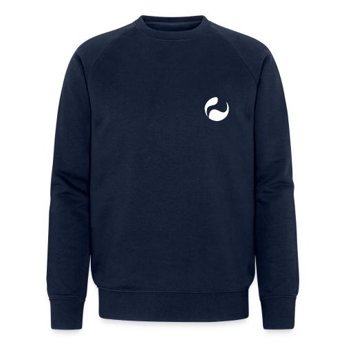 DEEPINSIDE logo ball white - Men's Organic Sweatshirt by Stanley & Stella