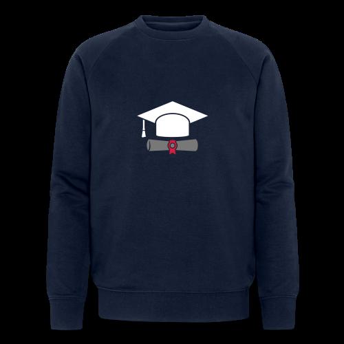Doktorhut mit Zeugnis - Geschenk zum Abschluss - Männer Bio-Sweatshirt von Stanley & Stella