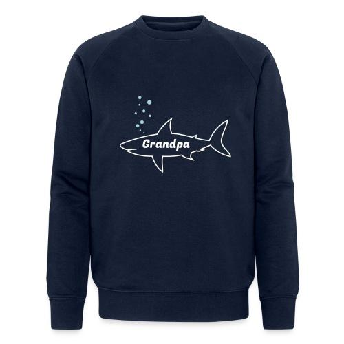 Grandpa shark - Fathers day gift - matching outfit - Männer Bio-Sweatshirt von Stanley & Stella