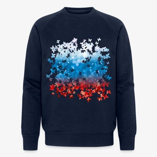 06 Russland Flagge Fahne Russia Schmetterlinge - Männer Bio-Sweatshirt von Stanley & Stella