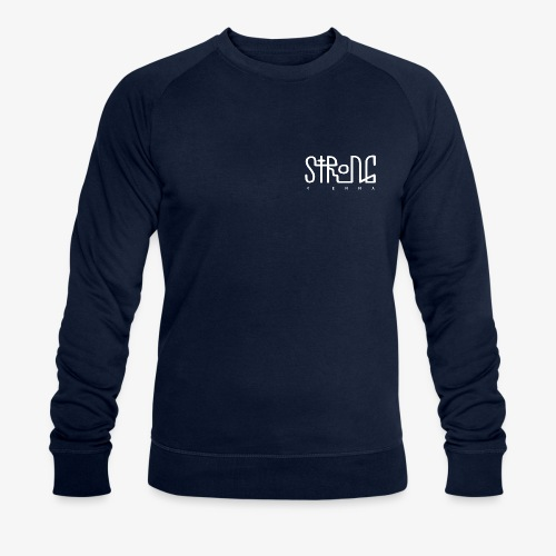 strong vienna logo white - Men's Organic Sweatshirt by Stanley & Stella