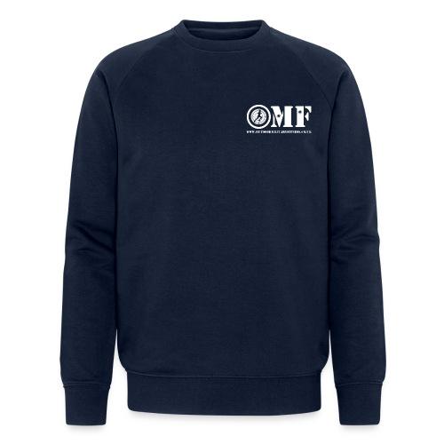 OMF white logo - Men's Organic Sweatshirt