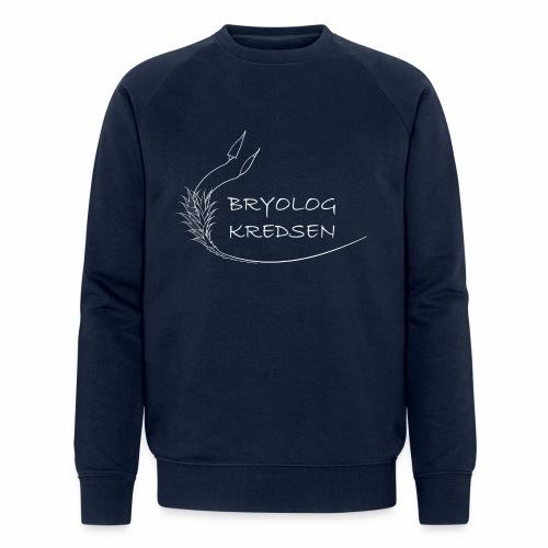 Bryologkredsen - hvidt logo - Økologisk Stanley & Stella sweatshirt til herrer