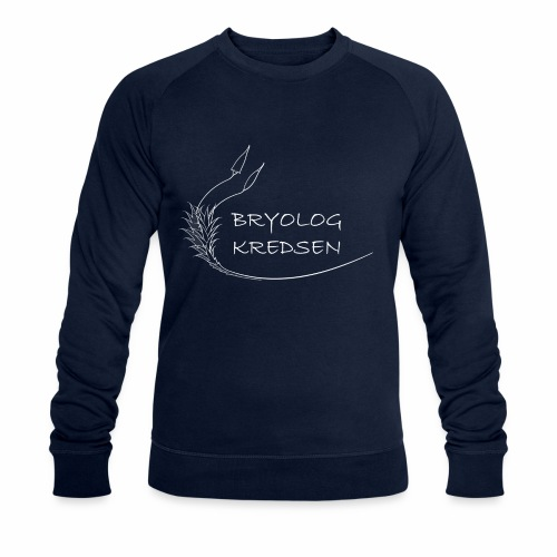 Bryologkredsen - hvidt logo - Økologisk sweatshirt til herrer