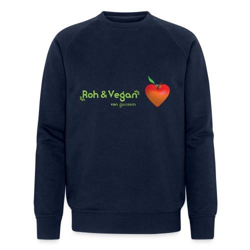Roh & Vegan rotes Apfelherz (Rohkost) - Männer Bio-Sweatshirt von Stanley & Stella