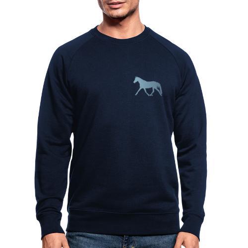 Streifen Pferd - Männer Bio-Sweatshirt