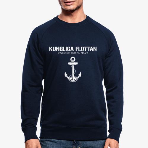 Kungliga Flottan - Swedish Royal Navy - ankare - Ekologisk sweatshirt herr