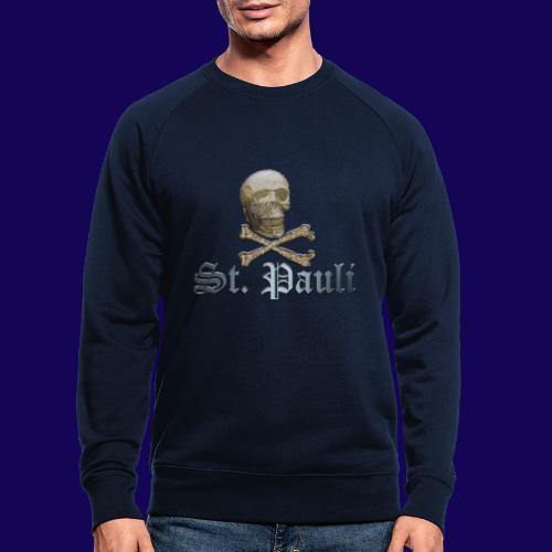 St. Pauli (Hamburg) Piraten Symbol mit Schädel - Männer Bio-Sweatshirt