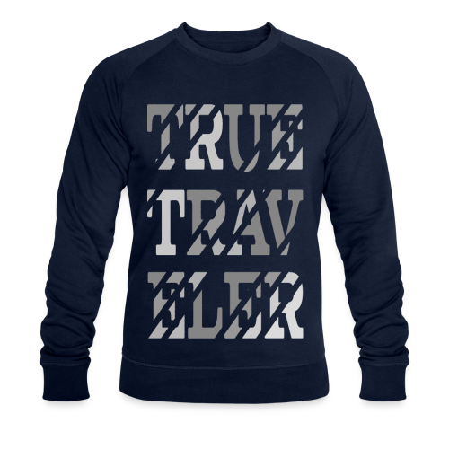 True Traveler Grey design - Stanley & Stellan miesten luomucollegepaita