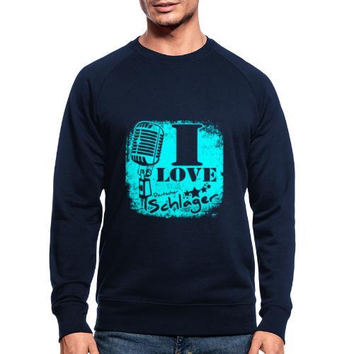 I love deutscher Schlager! Fan Shirt Geschenk - Männer Bio-Sweatshirt