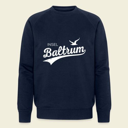 Baltrum-Logo Möwe - Männer Bio-Sweatshirt