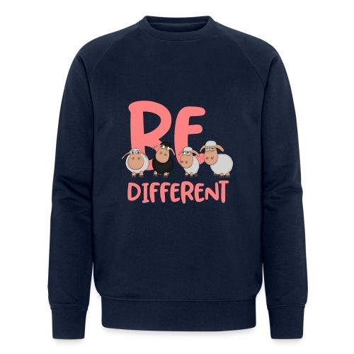 Be different pinke Schafe - Einzigartige Schafe - Männer Bio-Sweatshirt von Stanley & Stella