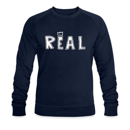 REAL (White) - Mannen bio sweatshirt