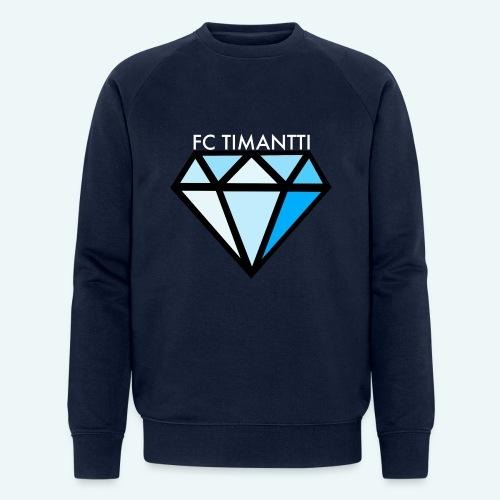 FCTimantti logo valkteksti futura - Miesten luomucollegepaita